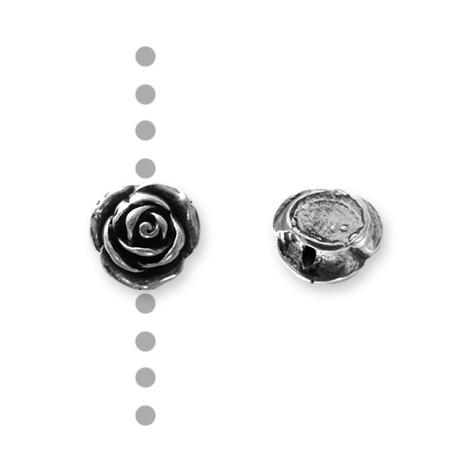 Passant Rose en Métal/Zamac, 15mm (Ø 1.5mm)