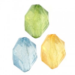 Acrylic Bead Octagon Faceted 23x16mm (Ø3mm)