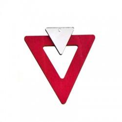 Ξύλινο με Πλέξι Ακρυλικό Μοτίφ Τρίγωνο 59x66mm