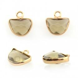 Brass Setting w/ Semiprecious Stone 10x14mm w/ 1 Ring