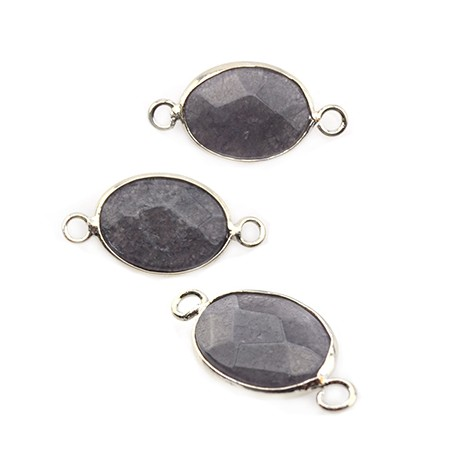 Brass Oval Setting 13x18mm With Aquatic Stone