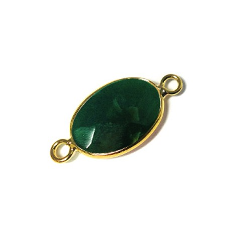 Brass Oval Setting 13x18mm With Indian Agate Stone