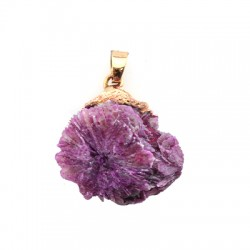 Coral Geodes Pendant ~30mm