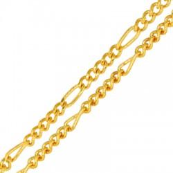 Steel Chain Parallelogram & Rings 5x4mm