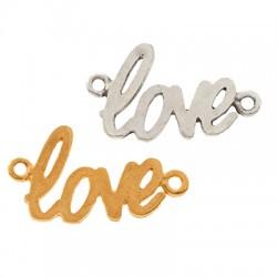 "Brass ""love"" 20x11mm"