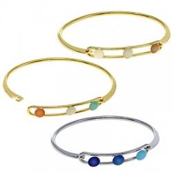 Brass Bracelet w/ Enamel 66mm