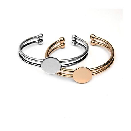 Brass Bracelet Base 60mm Rectangular