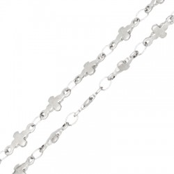 Stainless Steel 304 Chain Cross 3x9mm