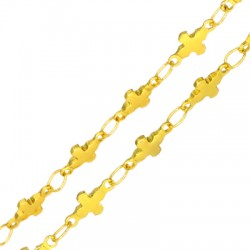 Stainless Steel 304 Chain Cross 4.5x6.5mm