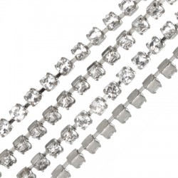 Steel Cup Chain w/ Strass 2.1mm