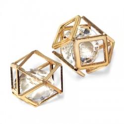 Pendentif Cube 13mm avec Crystal