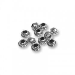 Perlina in Ottone 6x4.3mm (Ø 2.6mm)