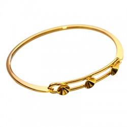 Bracelet en Métal/Laiton 66mm avec 3 supports pour cristaux