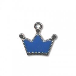 Ciondolo Corona in Argentone CCB Smaltato 28x25mm
