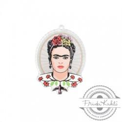 Πλέξι Ακρυλικό Μοτίφ Οβάλ Frida Kahlo 37x47mm