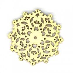 Ξύλινο Μοτίφ Λουλούδι Φιλιγκρί 50mm