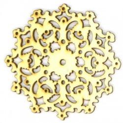 Ξύλινο Μοτίφ Λουλούδι Φιλιγκρί 75mm