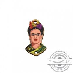 Ξύλινο Στοιχείο Frida Kahlo για Μακραμέ 14x25mm