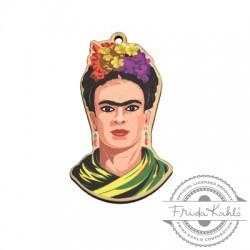 Ciondolo di Legno Frida Kahlo 27x45mm