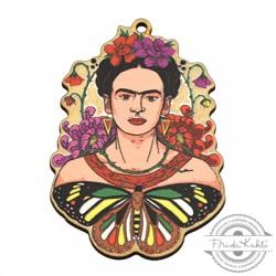Wooden Pendant Frida Kahlo 39x55mm