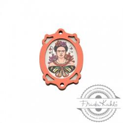 Ciondolo di Legno Cornice Frida Kahlo 25x35mm
