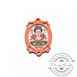 Wooden Pendant Frame Frida Kahlo 25x35mm