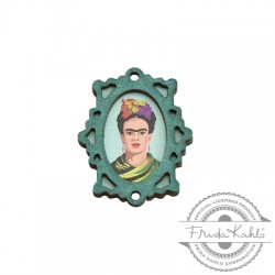 Ciondolo di Legno Cornice Frida Kahlo 28x35mm