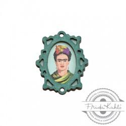 Wooden Pendant Frame Frida Kahlo 28x35mm