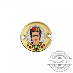 Μεταλλικό Μπρούτζινο Στρογγυλό Frida Kahlo για Μακραμέ 20mm