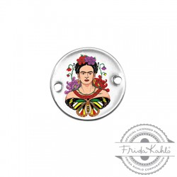 Brass Connector Round Frida Kahlo 20mm