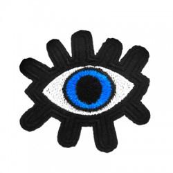 Applicazione Termoadesiva di Tela Occhio Portafortuna 55x40mm