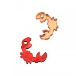 Plexi Acrylic Charm Crab 17x12mm