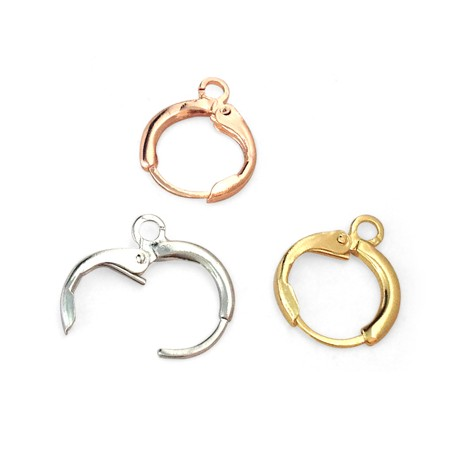 Brass Earring Clip Round 11.5mm