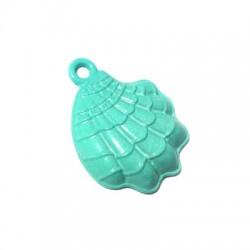 Zamak Painted Casting Charm Shell 17x22mm