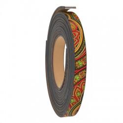 Cordon plat en cuir synthétique 10mm (coupé par ~1,2m)