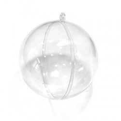 Polyester Deco Ball Openable 100mm (2pcs/Set)