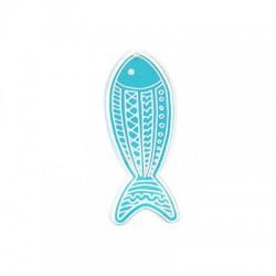 Πλέξι Ακρυλικό Μοτίφ Ψάρι 30x87mm