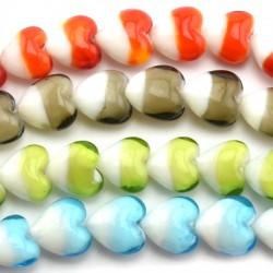 Murano Glass Bead Heart 20mm (~20pcs)