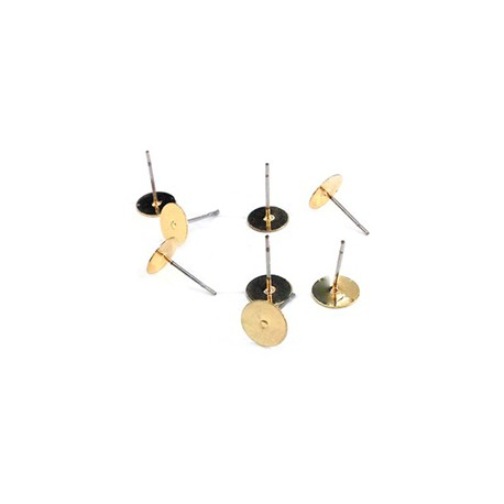 Brass Earring with Round Base 6mm