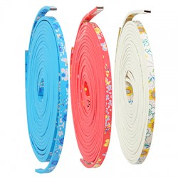 Synthetic Double Face Flat Cord Flower 5mm(~1.2mtr/spool)