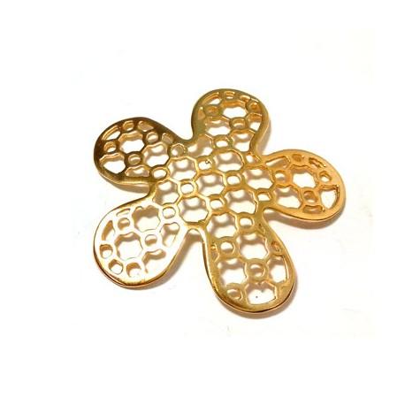 Brass Cast Flower 50mm