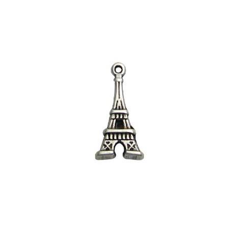 Breloque Tour Eiffel en Métal/Zamac, 10x20mm