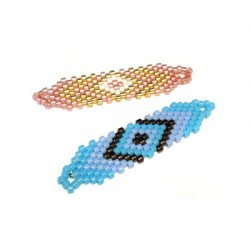 Metal Bracelete with Miyuki Crystal Beads 10x37mm