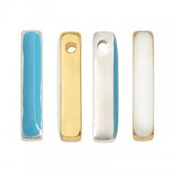 Brass Slider Bar & Enamel 4x20mm (Ø2mm)