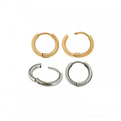 Stainless Steel 304 Earrings Hoop 10mm/2mm