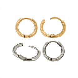 Stainless Steel 304 Earrings Hoop 12mm/2mm