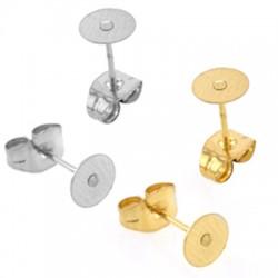 Stainless Steel 304 Earring Base 8mm