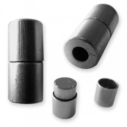 Brass Tube Magnetic Clasp 10x21mm (Ø 5mm)