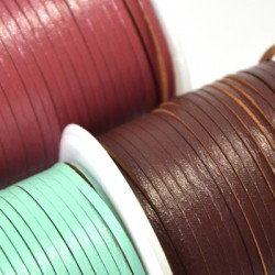 Recycling Leather Cord 2mm (~5mtrs/spool)