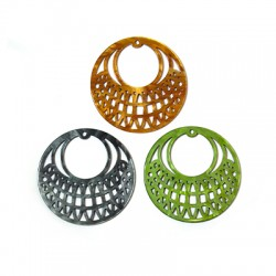 Plexi Acrylic Pendant Round Filigree 45mm